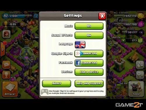 cách chơi 2 acc clash of clans