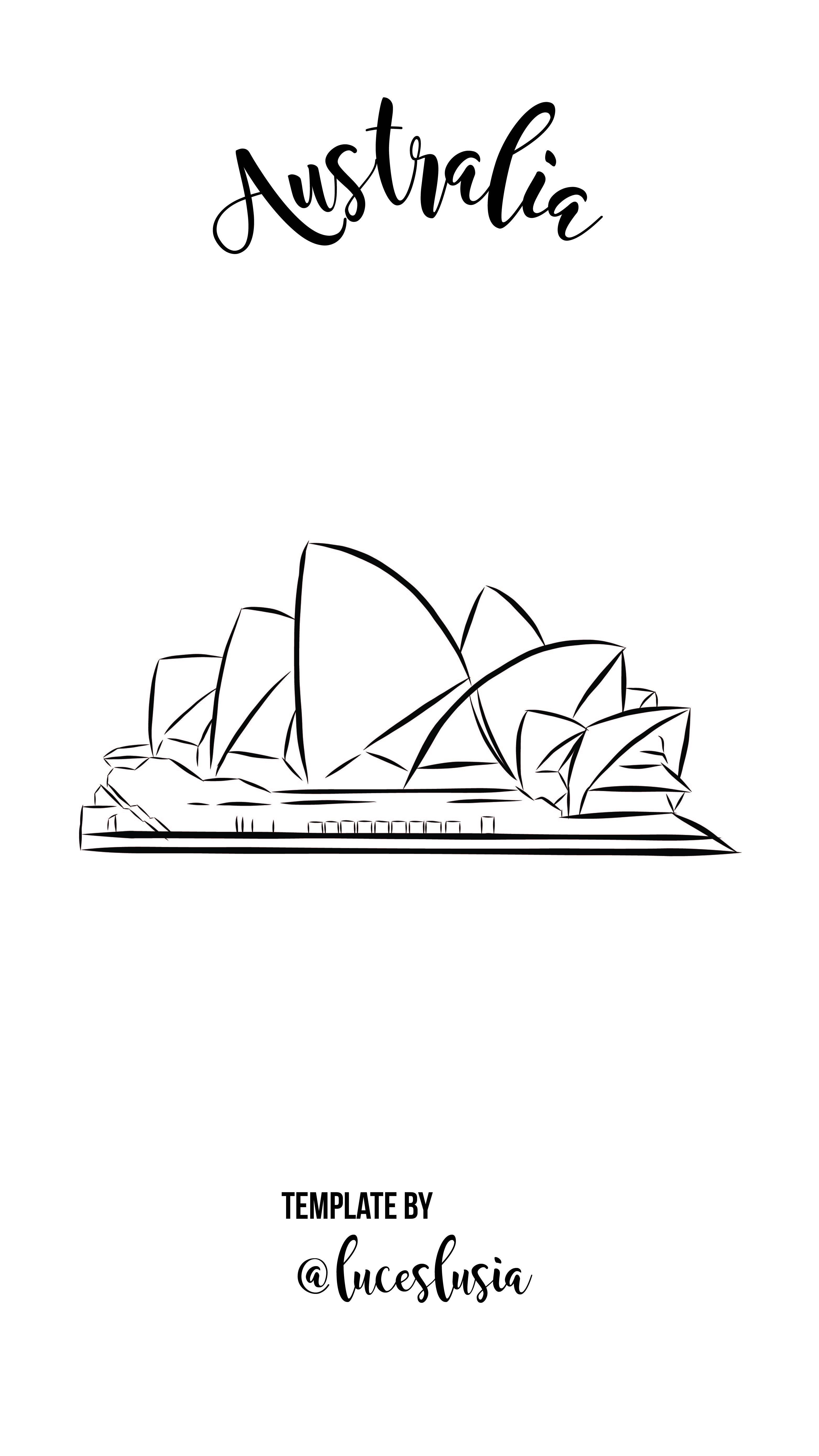 Plantilla de lo más destacado de Instagram por LucesLusía – Australia / Sydney / Opera House