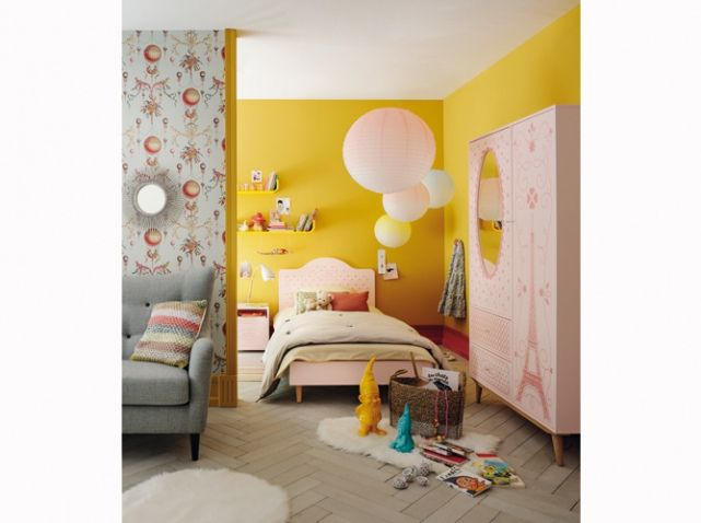 Chambre enfant jaune et rose | girl bedroom | Pinterest | Kids s ...