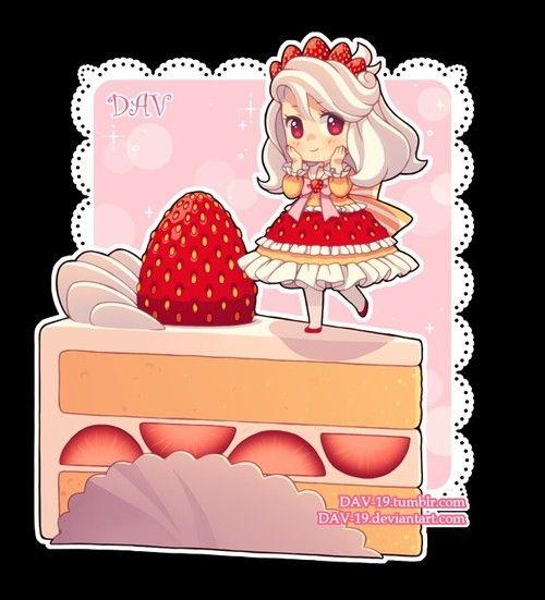 Imagem de cake, chibi, and food