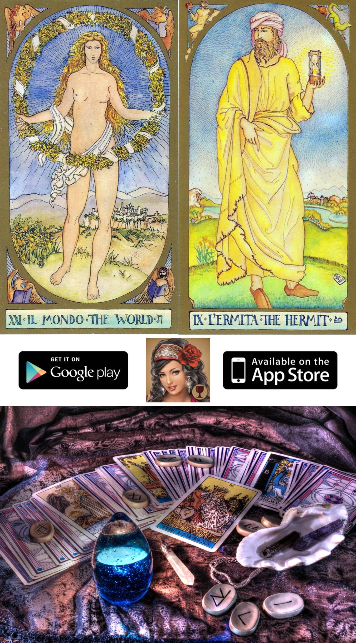 Install The Free Mobile Application On Your Ios And Android Device And Enjoy Free Tarot Card For Today Taro Free Tarot Cards Tarot Card Meanings Free Tarot