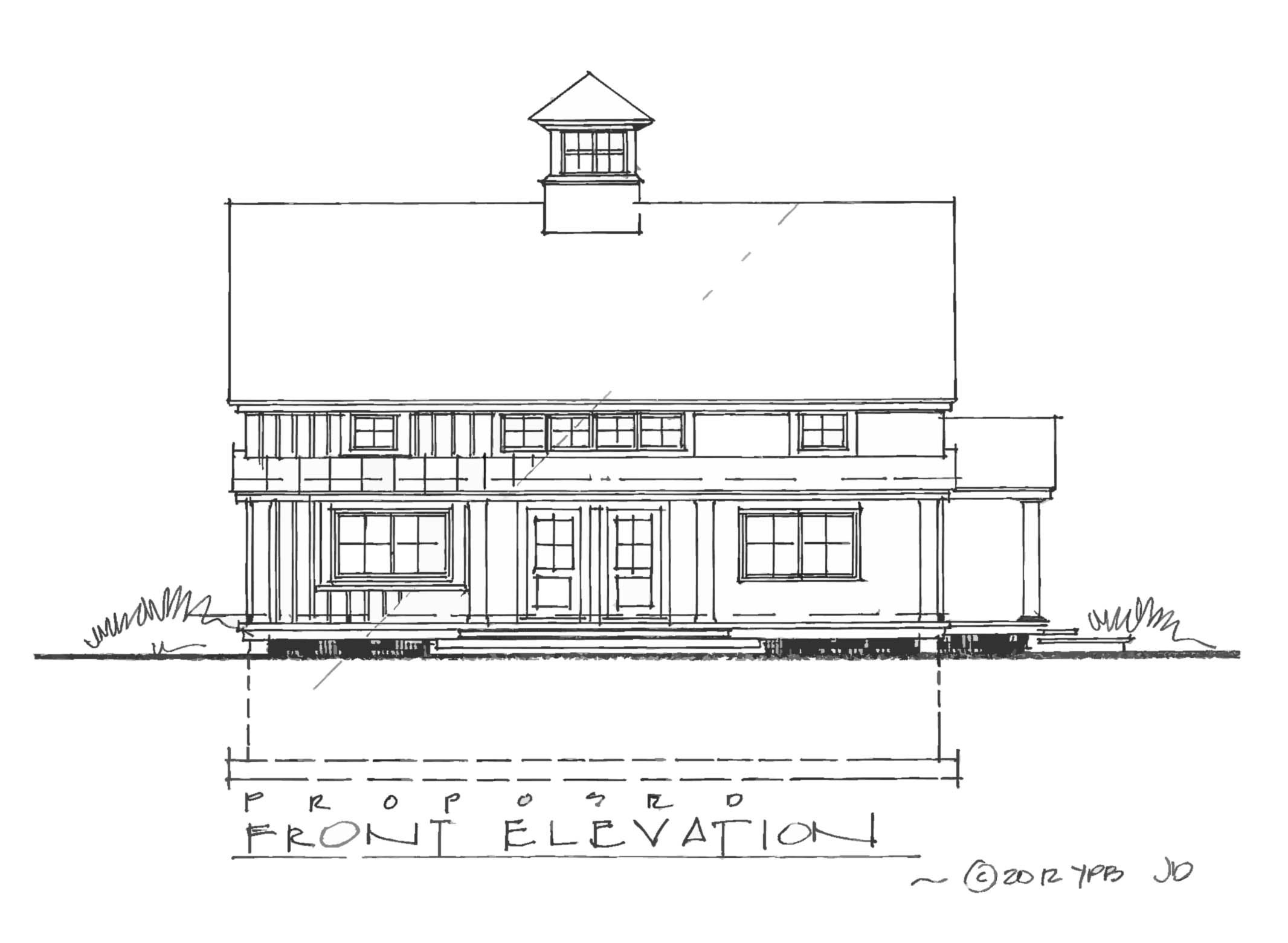 Captivating Carriage House Plan Front Exterior