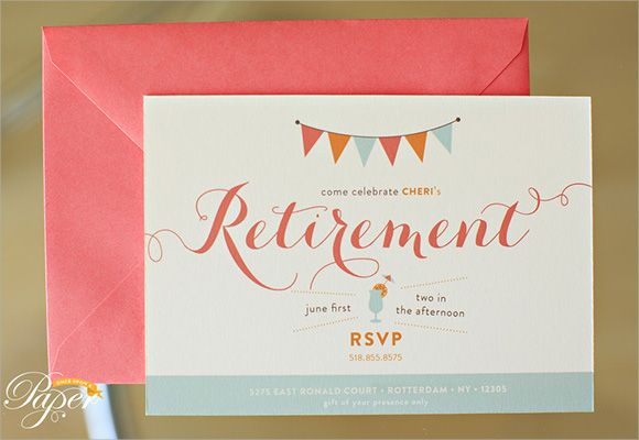 Retirement Party Invitations Templates  BetsyS Party