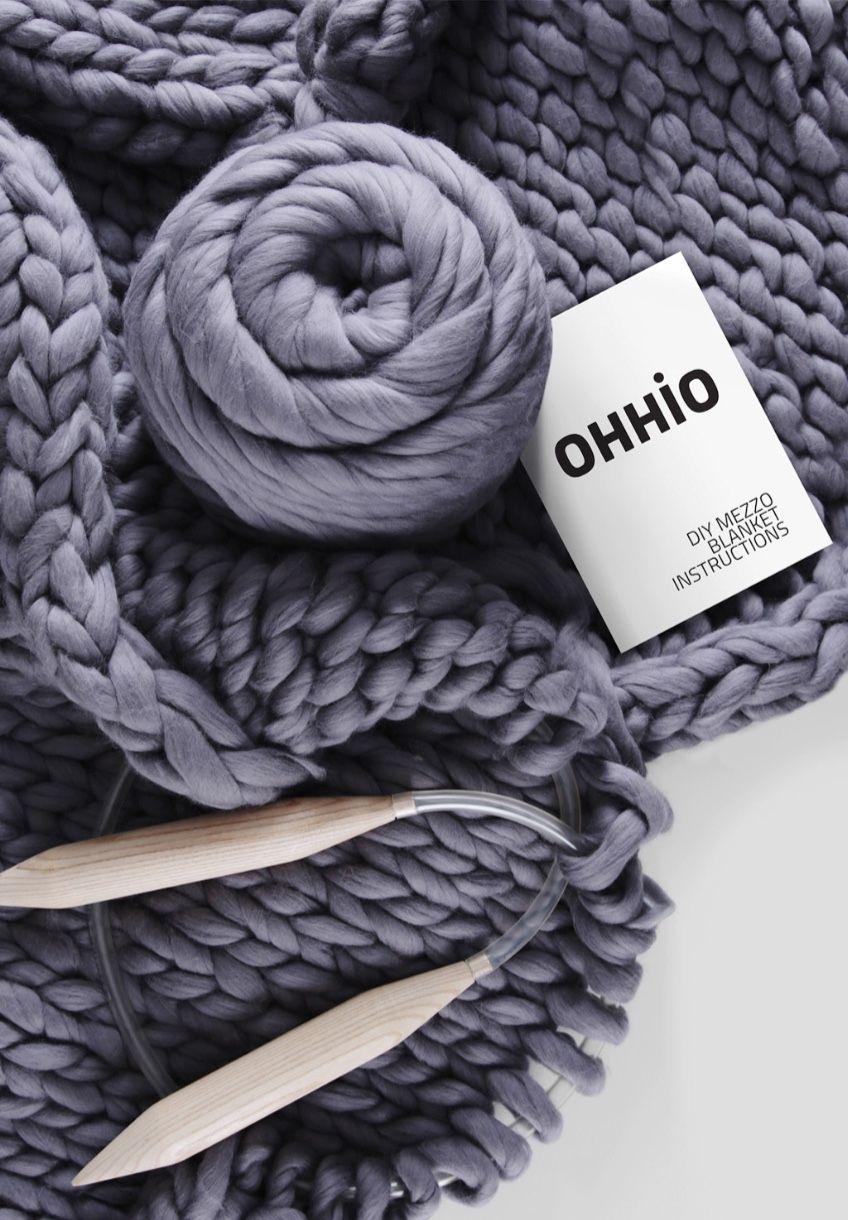 DIY Chunky Knit Merino Wool Blanket Kit Ohhio on Etsy