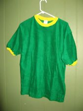 Vintage 70's Dodger Sportswear Green Yellow Terry Cloth Shirt M 38-40 Deadstock