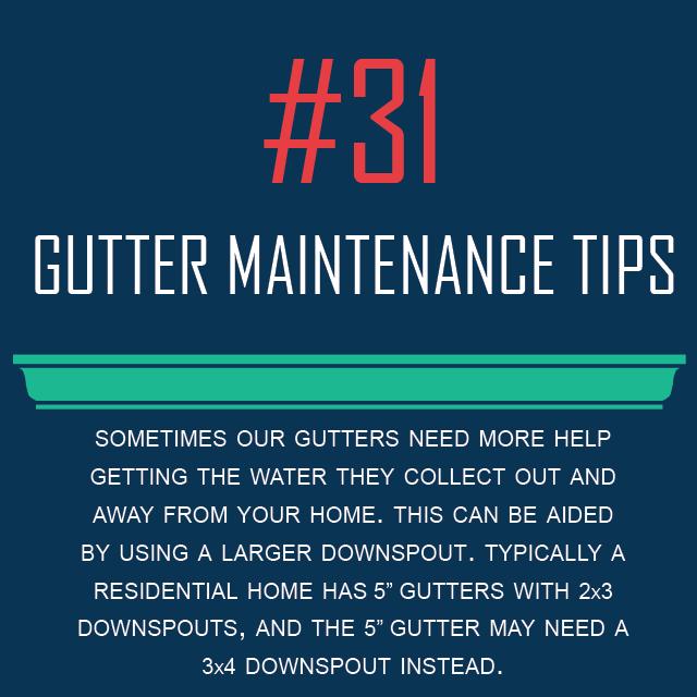 Tip 30 Using Large Downspout Smaller Gutter Gutter Maintenance Roof Maintenance Gutters