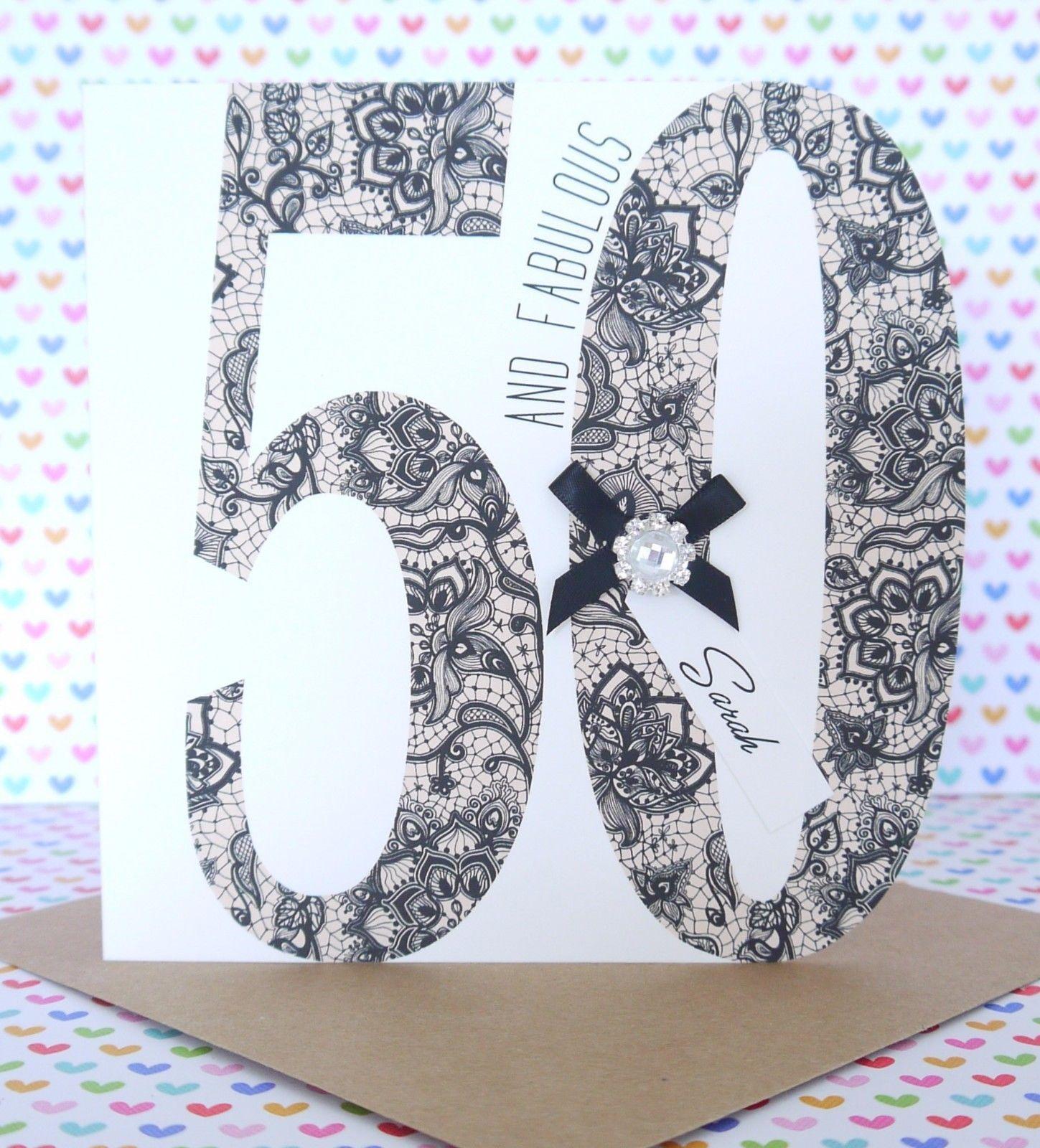 Personalised handmade 50th 60th birthday card sister mum personalised handmade 50th 60th birthday card sister mum bookmarktalkfo Choice Image