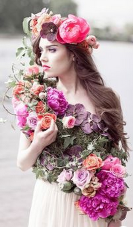 ❀ Flower Maiden Fantasy ❀ beautiful art fashion photography of women and flowers - pink garland