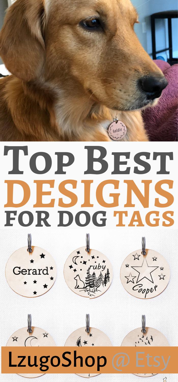 Trees Unique Pet Tag Custom Trees Dog Tag Cute Engraved Pet Id