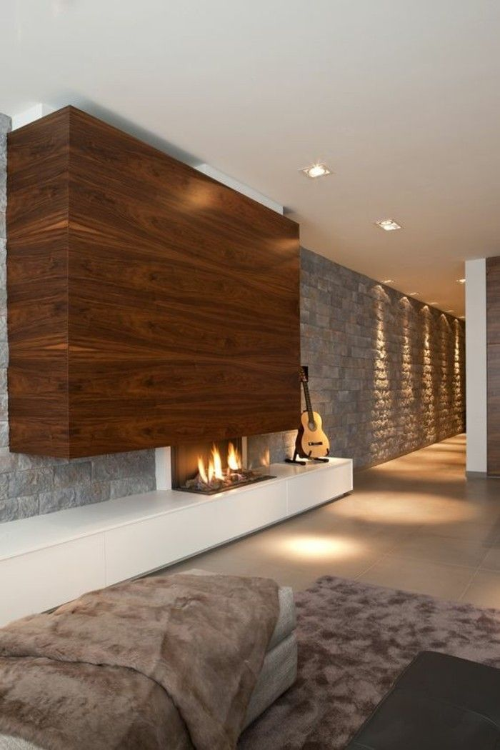 ▷ 1001+ Idées pour transformer une cheminée rustique en moderne ...