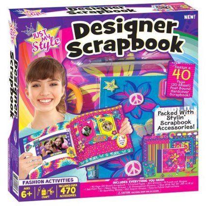 Amazon Com Just My Style Scrapbook Kit Baby Toys Baby Style Scrapbook Diy Gifts For Kids Scrapbook Kits
