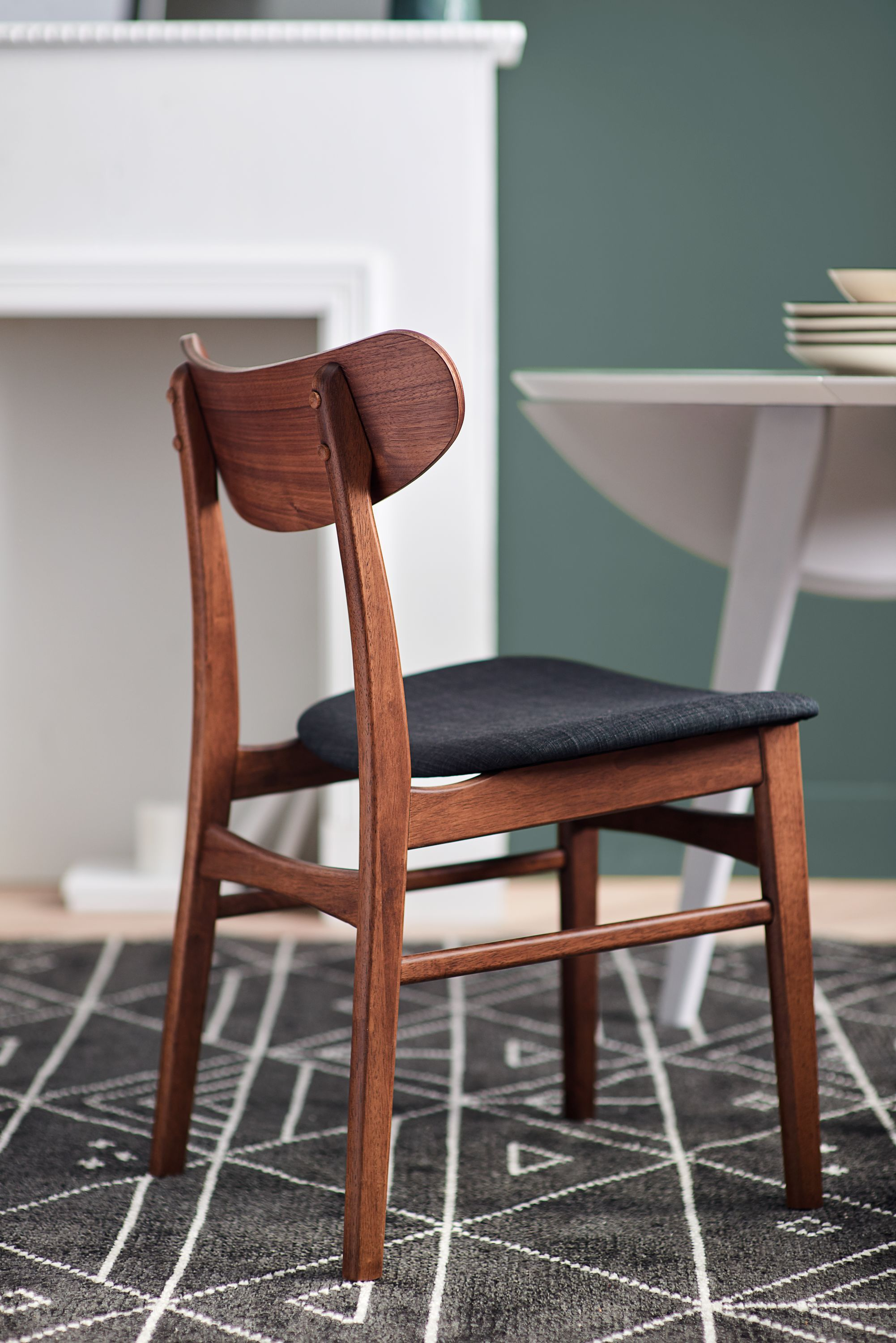Houston Charcoal Bentwood Dining Chair Dining Chairs Teak