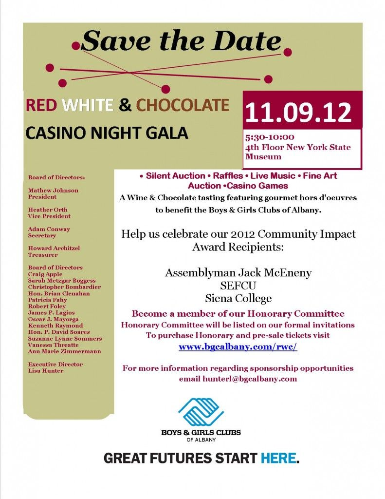 Red White Chocolate Casino Night Gala Blah Layout But Good
