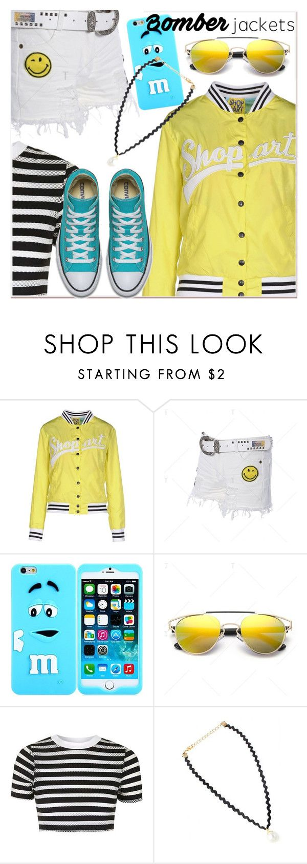 """Light Topping: Summer Bomber Jackets"" by paculi ❤ liked on Polyvore featuring Shop ★ Art, Topshop and bomberjackets"