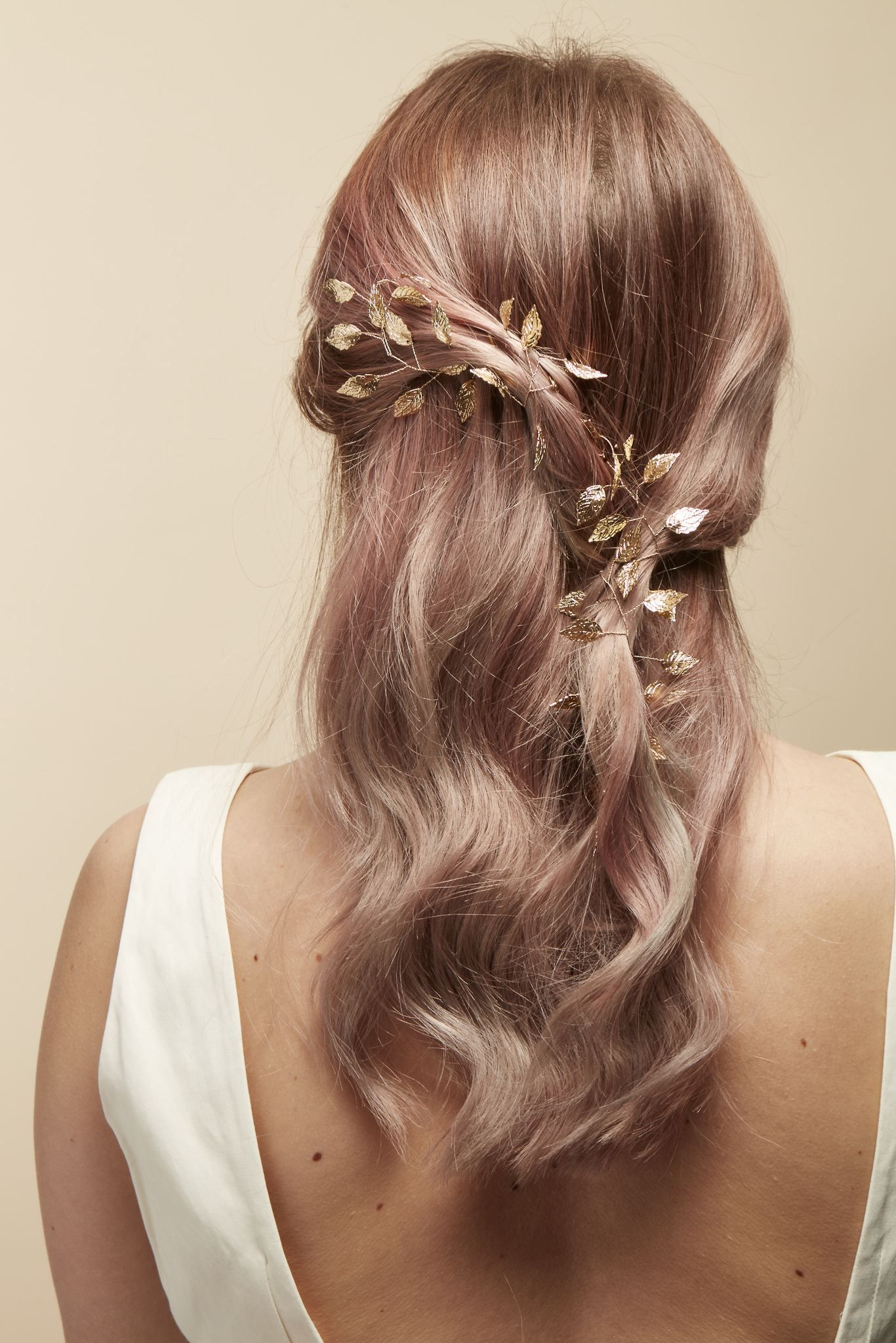 Wedding gold leaf hair accessory bridal hair accessories wedding