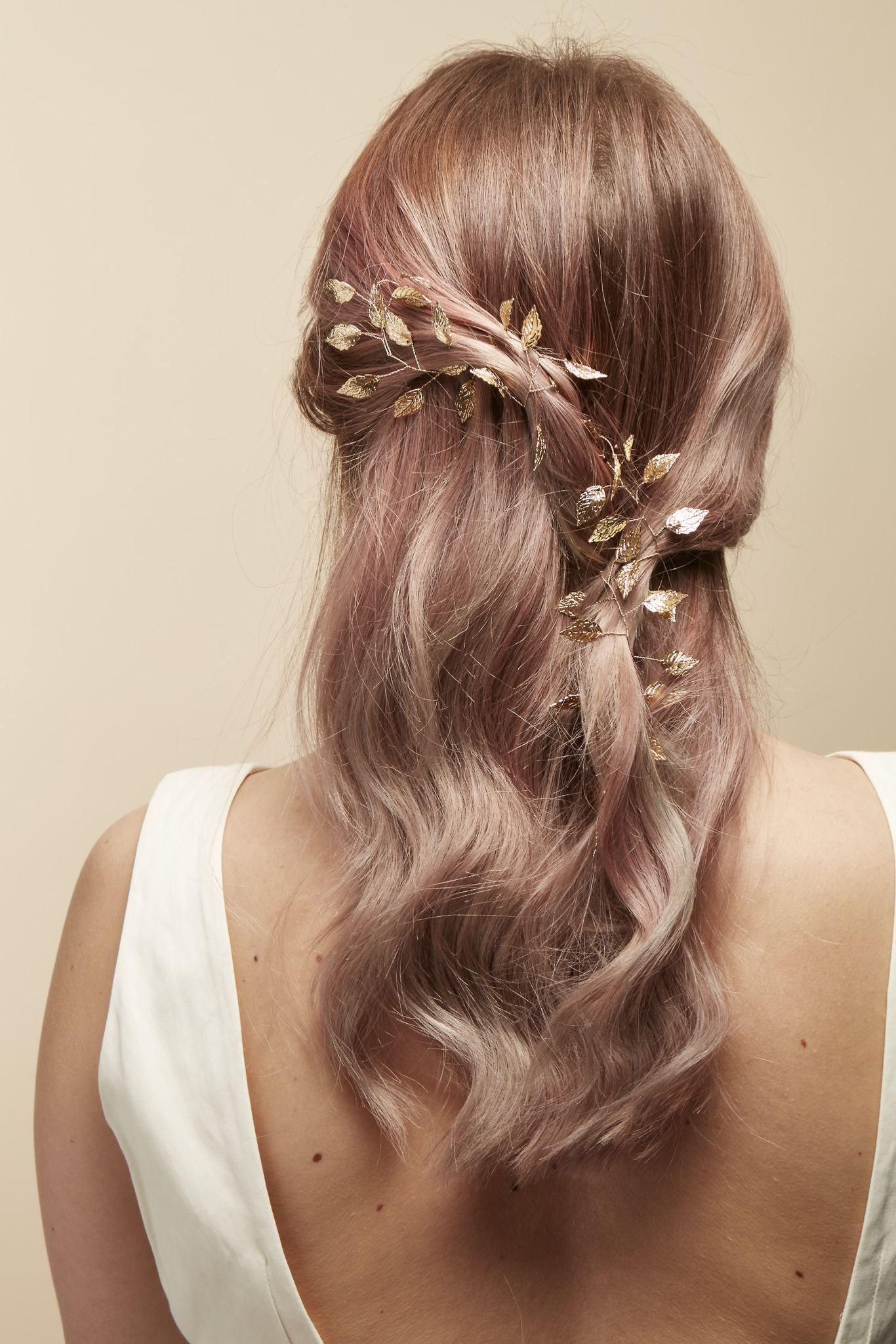 wedding gold leaf hair accessory bridal hair accessories