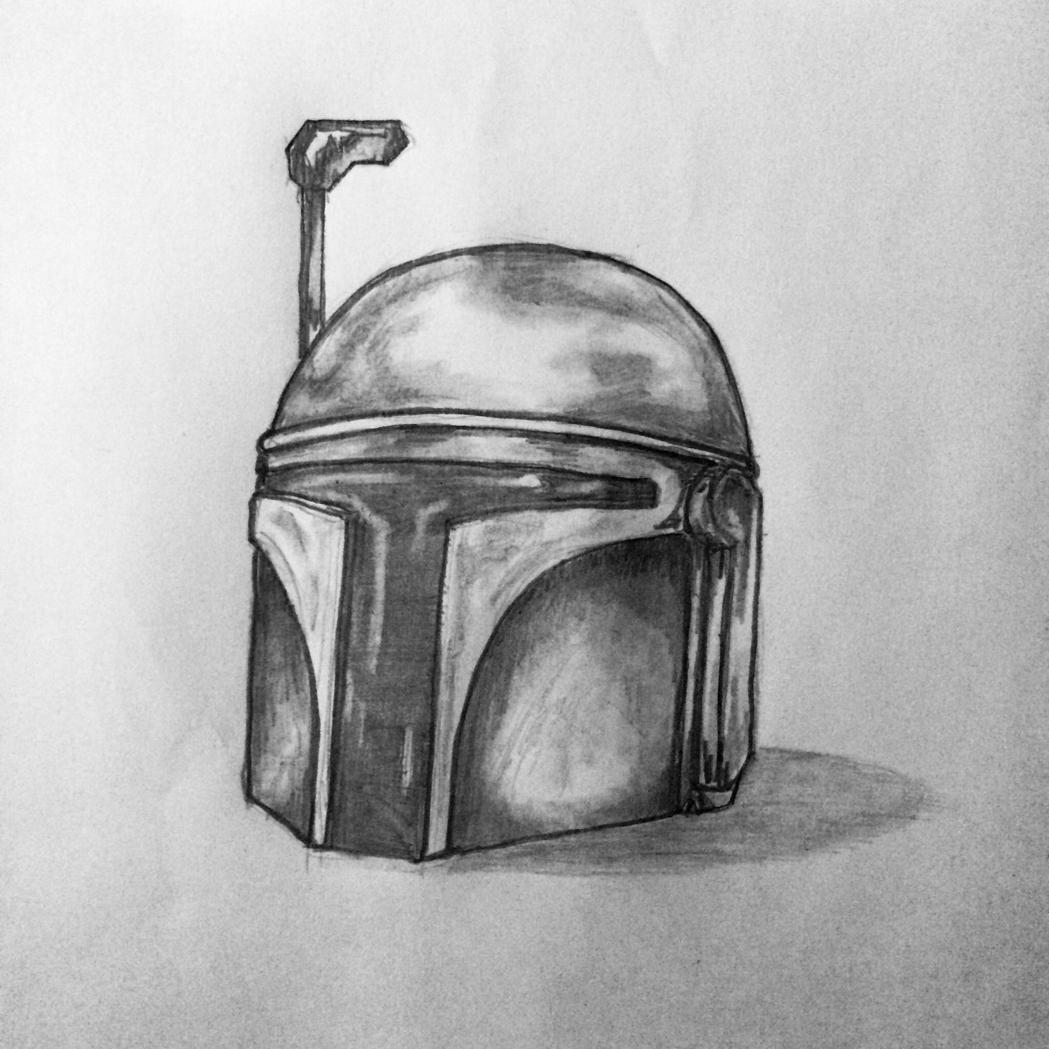 Boba fett helmet Tattoo sketch / drawing by - Ranz ...