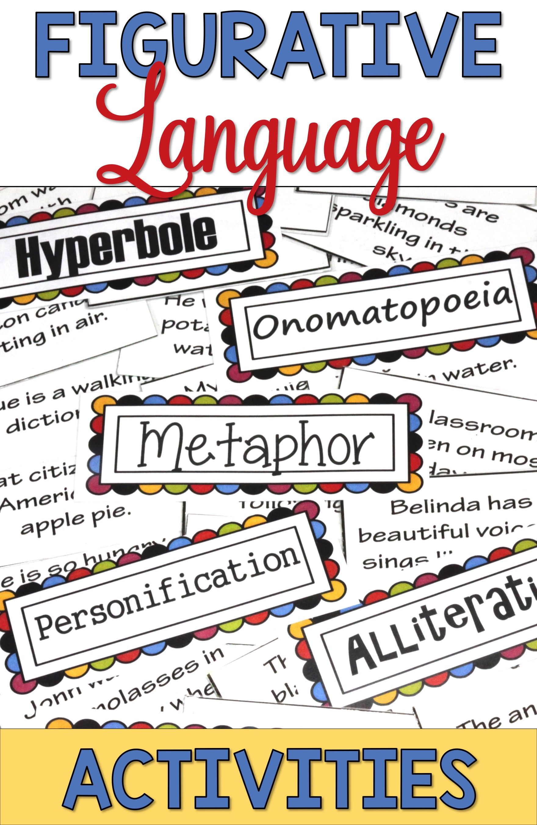 Figurative Language Activities Are Fun And Engaging For 3rd Grade 4th Grade 5th Grade A Figurative Language Figurative Language Activity Language Activities
