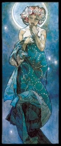 Astrea - The Star Maiden, the goddess of justice #libra It's funny that I found this, my grandmother has this portrait in her living room.