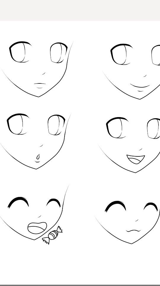 Basic Anime Expressions Drawing Anime Bodies Cartoon Drawings