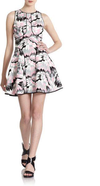 Isoceles Silkl Lnen Flared Dress - Lyst