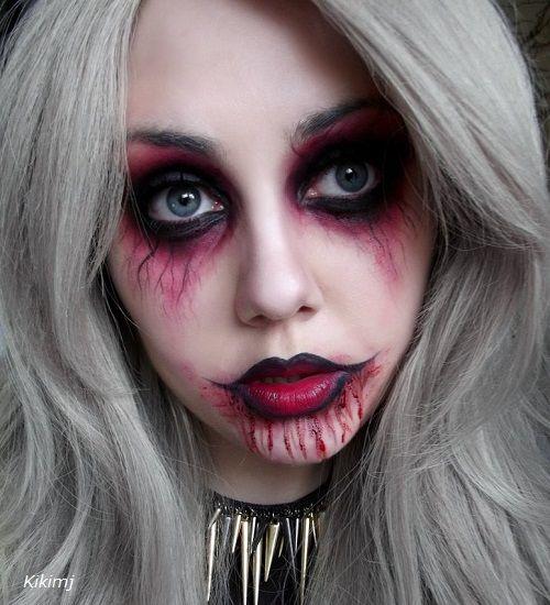 disfraz zombie mujer maquillaje