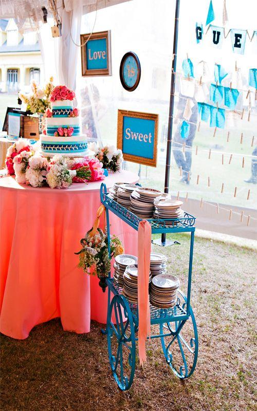 Vintage Sweets Bar. #weddingcake Brooke Mayo Photography ...