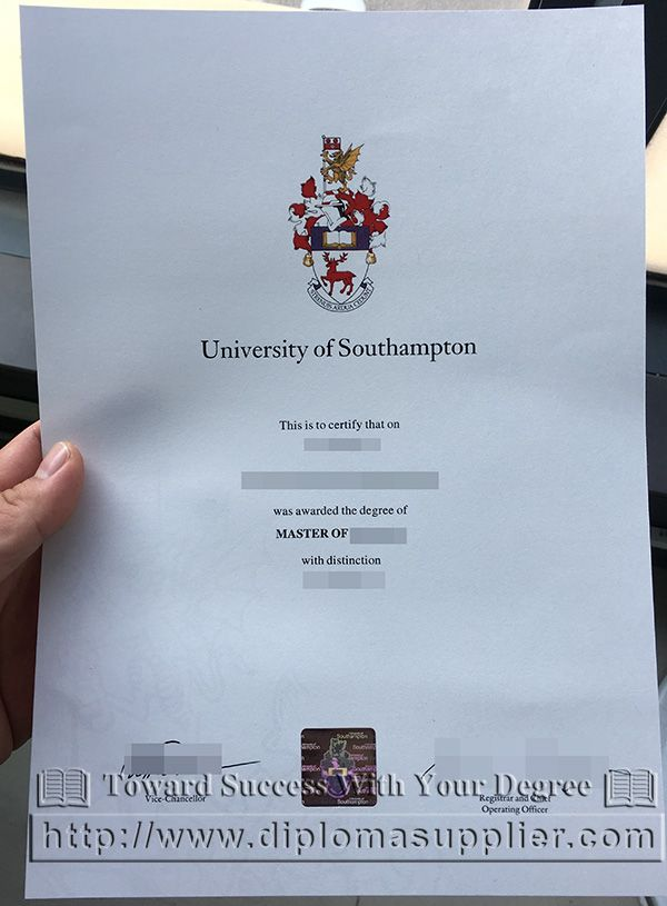 University Of Southampton Fake Masters Degree Sample