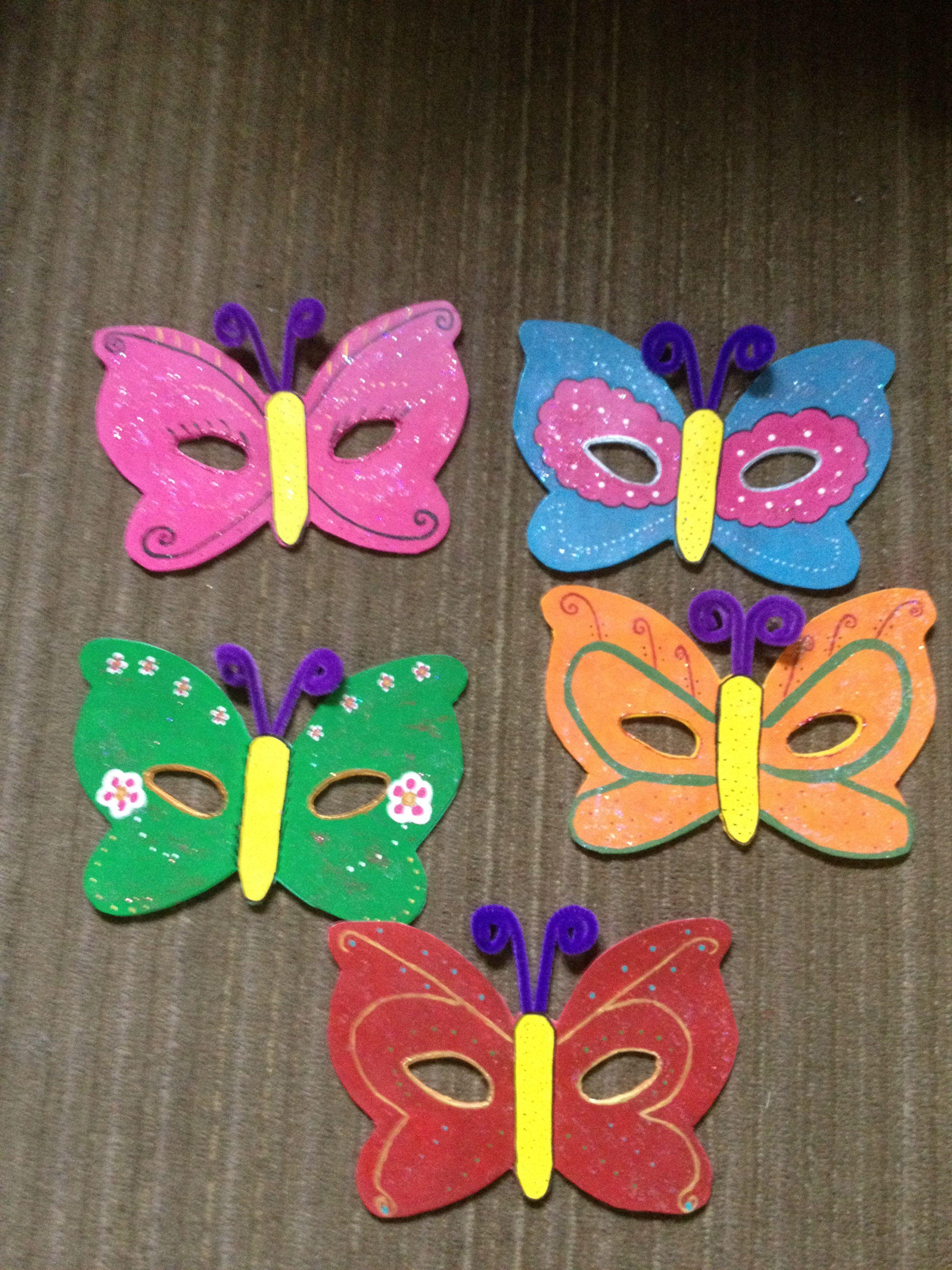 M scaras de mariposa mis creaciones adm - Mascaras para carnaval manualidades ...