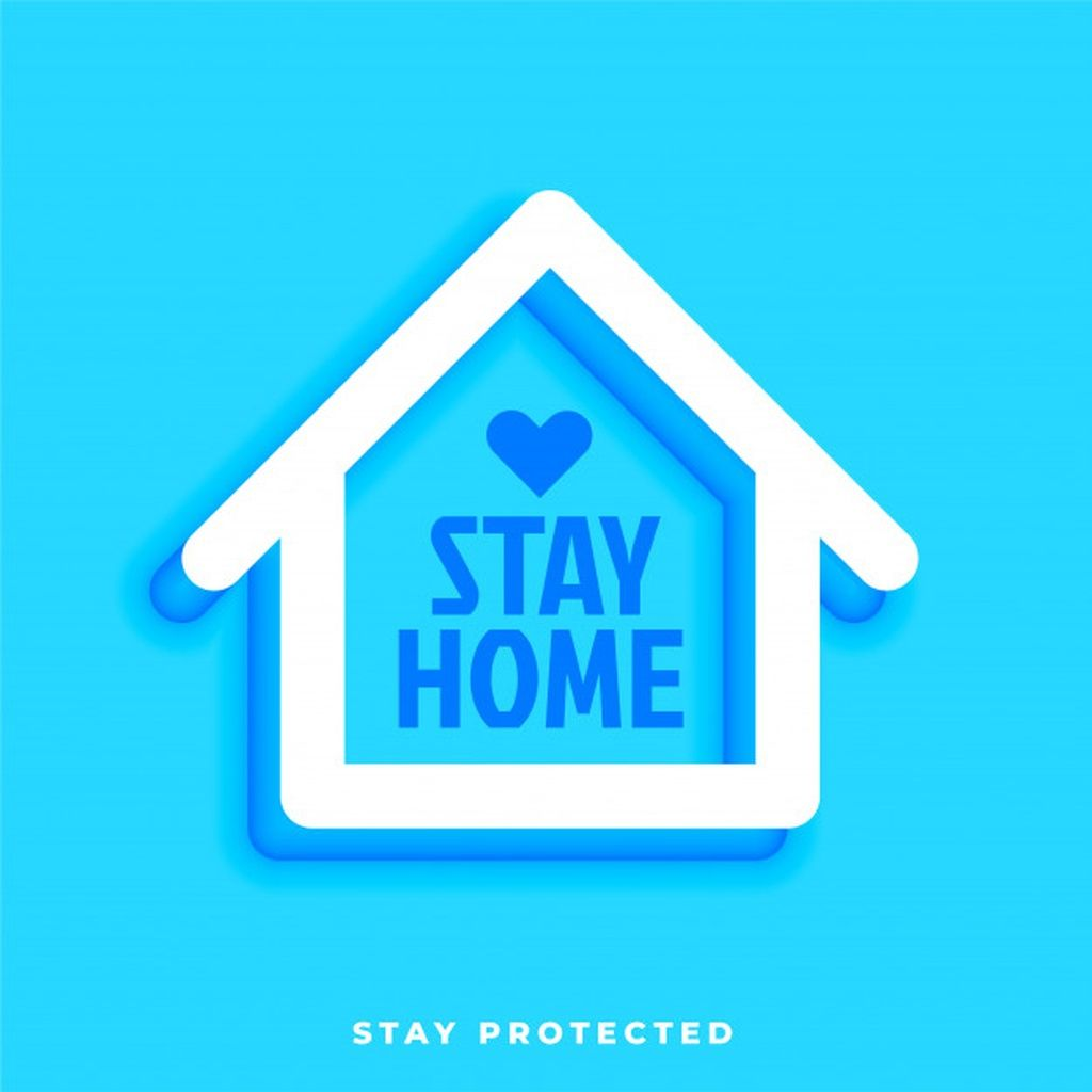 Stay Home Stay Protected Design With House Symbol Paid Ad Ad Stay Protected Symbol Home Symbol Design Typography Hand Drawn Vector Free