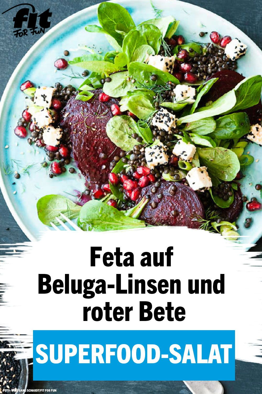 Feldsalat mit Linsen, Rote Bete und Feta