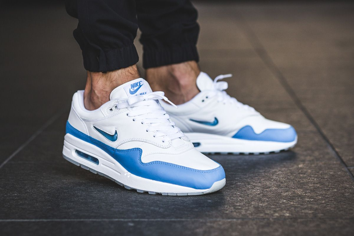 on sale e83ed ab13f On-Foot  Nike Air Max 1 Premium SC Jewel  University Blue  - EU Kicks   Sneaker Magazine
