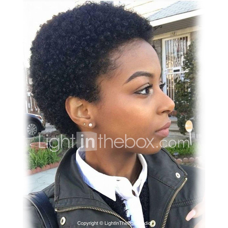 Human Hair Capless Wigs Human Hair Curly African American Wig