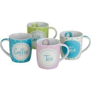 Vintage Ditsy 4 Piece Mug Set At Argos Co Uk Your Online For Tea Sets Mugs And Accessories