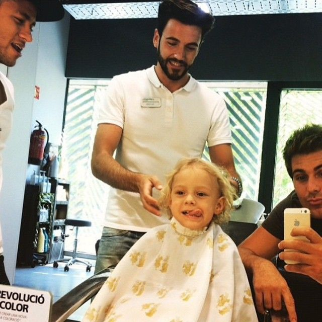 """Davi getting a haircut yesterday or the day before """
