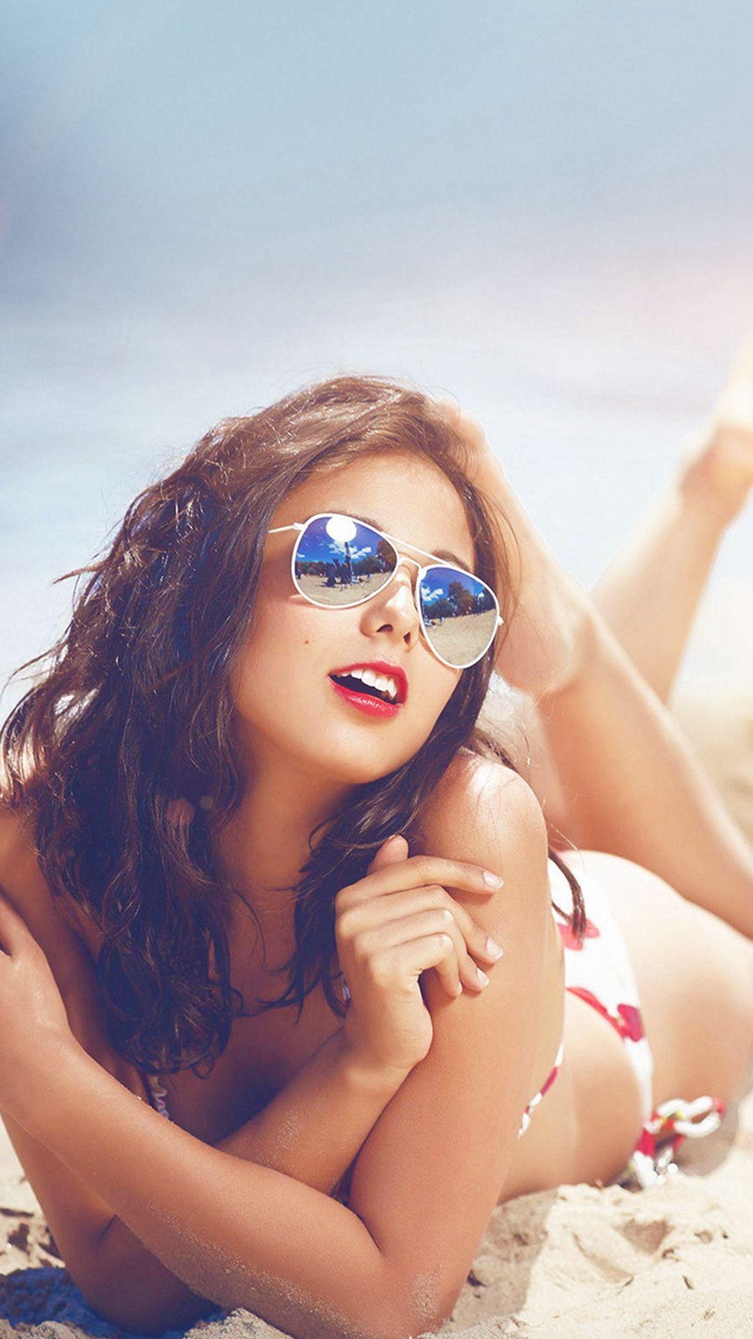 Beach Girl Sunglasses Sunny Flare Summer Sexy Iphone 6 Plus
