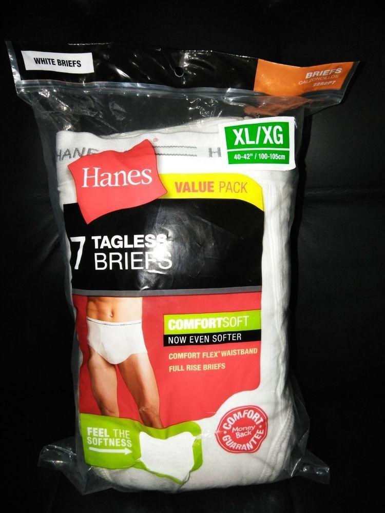 41339decd8adf8 Hanes Men's Tagless ComfortSoft Briefs 7-Pack White, XL/ XG 40-42 ...