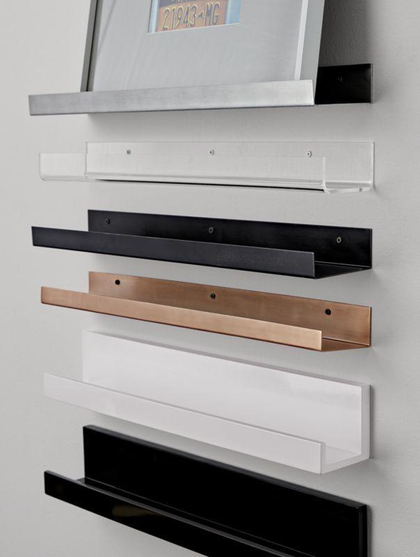 Metal Aluminum Wall Shelf 24 Black Wall Shelves White Wall