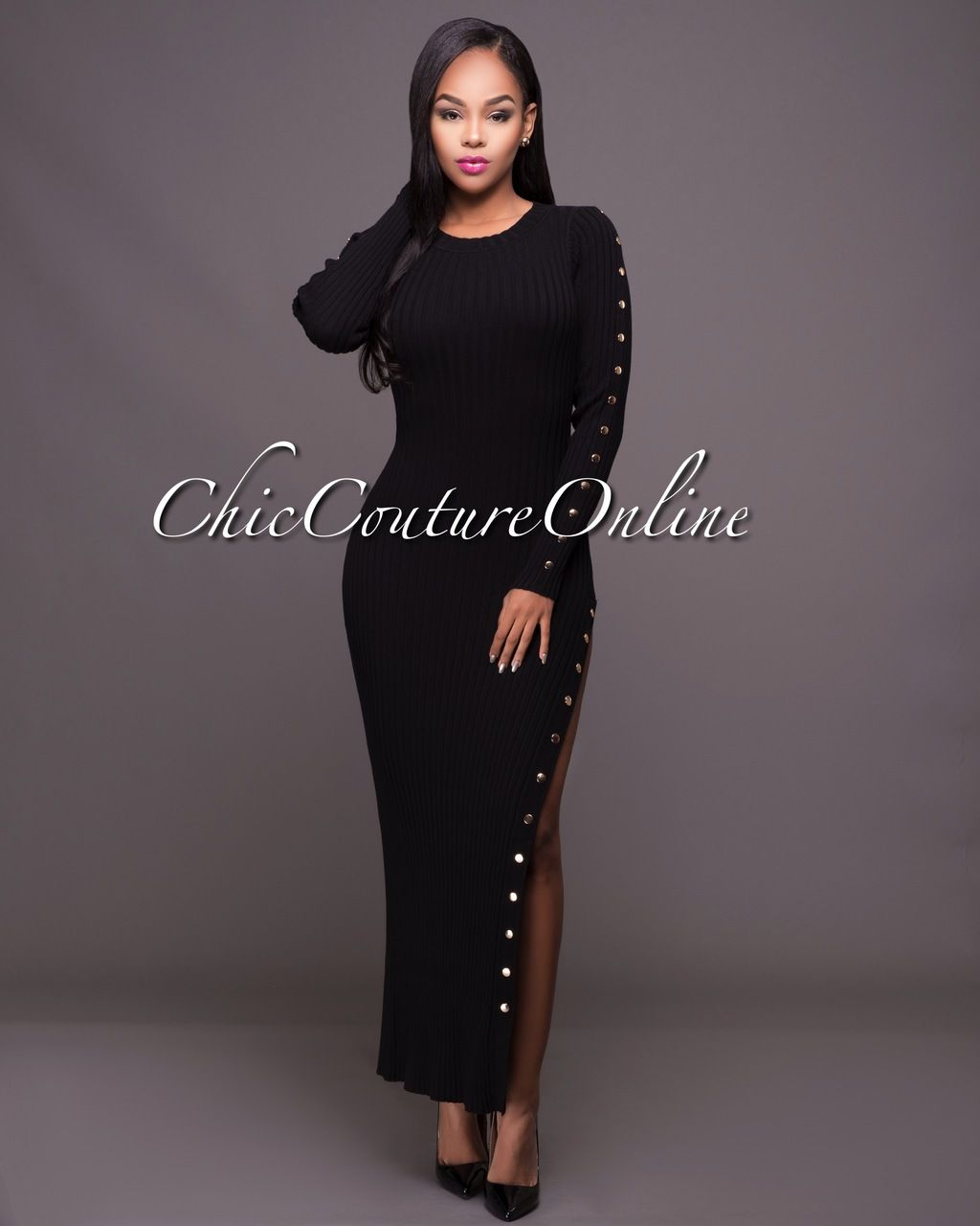 Sepia black ribbed maxi sweater dress blackout pinterest herve