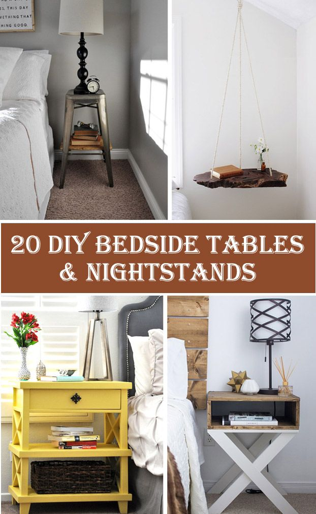 20 Diy Bedside Table Nightstand Ideas Tables Nightstands Cheap