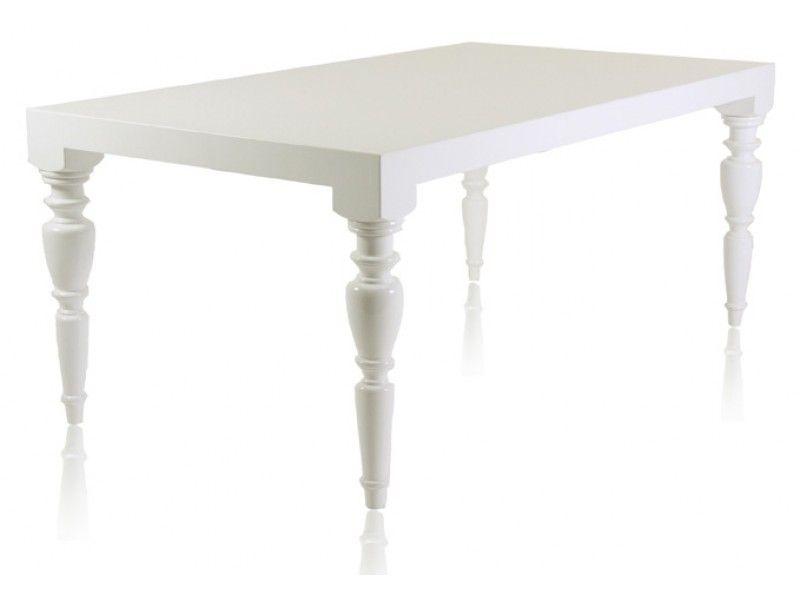 Modani Modern Contemporary Baroque Designer White Lacquer Dining Room Tables 1190