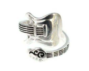 The Axes Titanium Guitar Ring