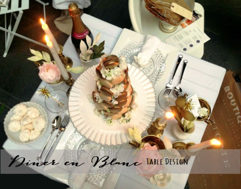 Diner en Blanc Table Design by Home at Philly Style Party- July 2014