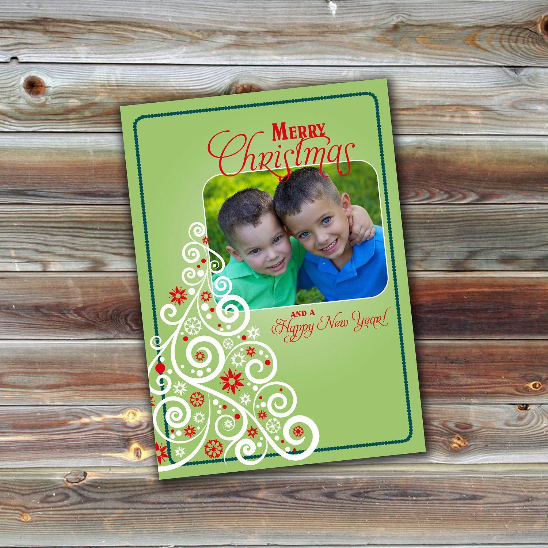 0111 5x7 Christmas Holiday PSD Photo Card