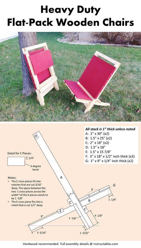 Flat-Pack Wooden Chairs Galpones, Carpinteria y Madera - sillas de playa