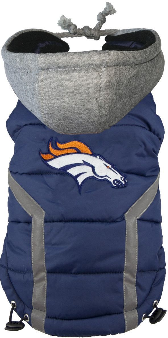 newest 4be96 d145b Denver BRONCOS NFL dog Jacket (Puffer Vest) in color Blue ...