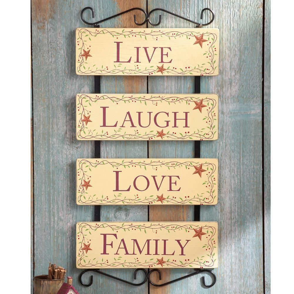 Country Stars & Berry Live Laugh Love & Family Panels w/Scrolling ...