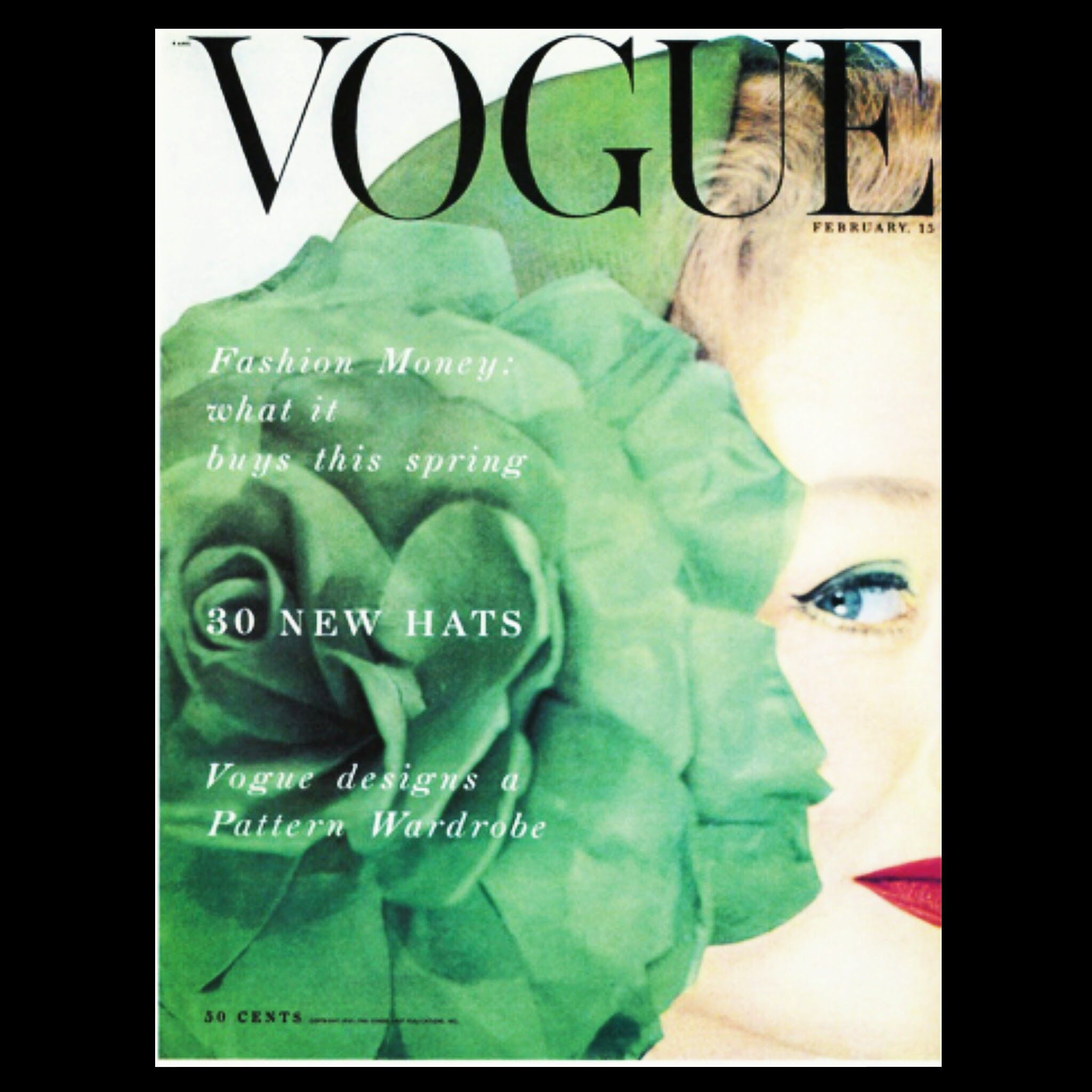 Cover of Vogue, February 1953.