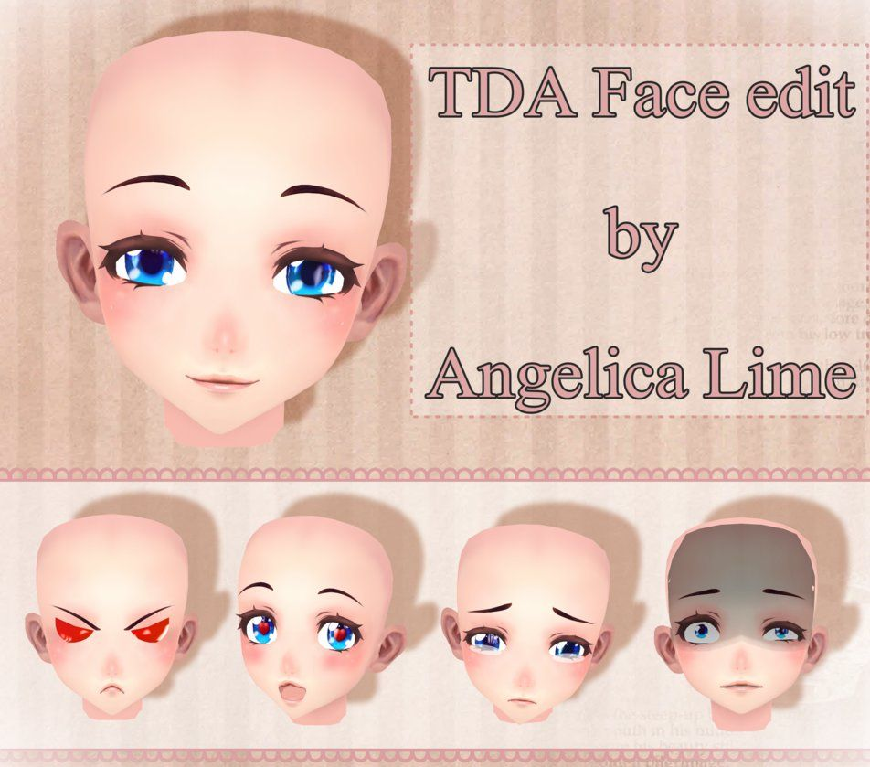 TDA Face edit by Angelica-Lime | MMD | Face, Character