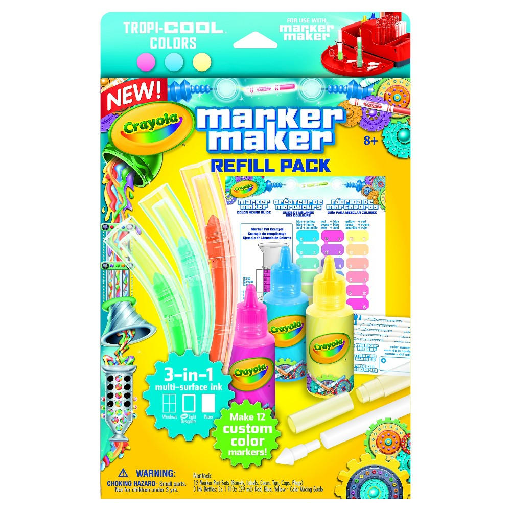 Crayola Marker Maker Refill Pastel Multi Colored Crayola